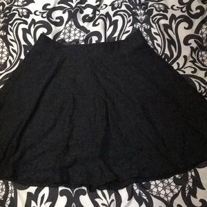 Black lace design mini skirt